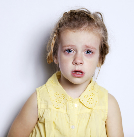 aciculum: the little girl is sad with tears in my eyes