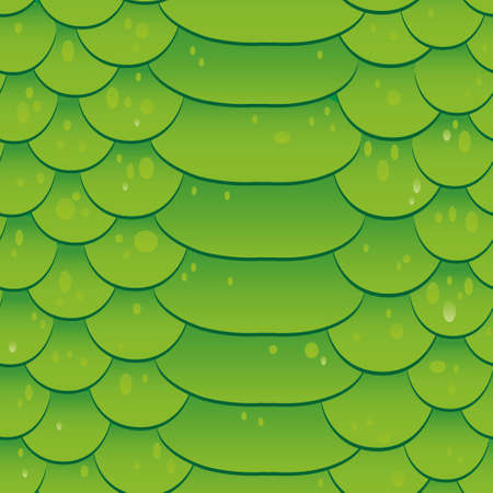 Snake skin texture Seamless pattern green background Vector crocodile, predator