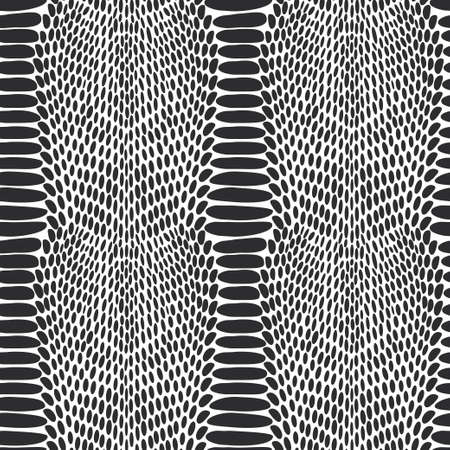 exoticism: Snake skin texture. Seamless pattern black on white background.