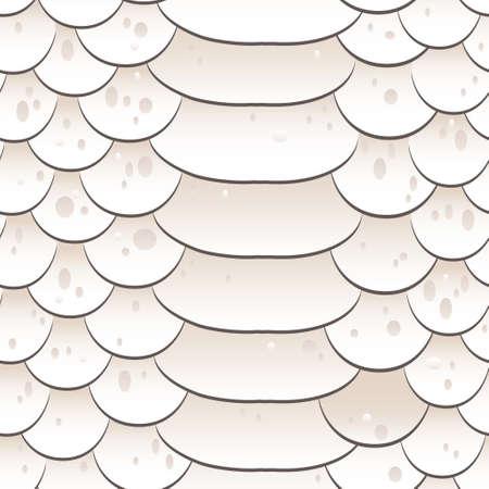 Snake skin texture Seamless pattern white background.