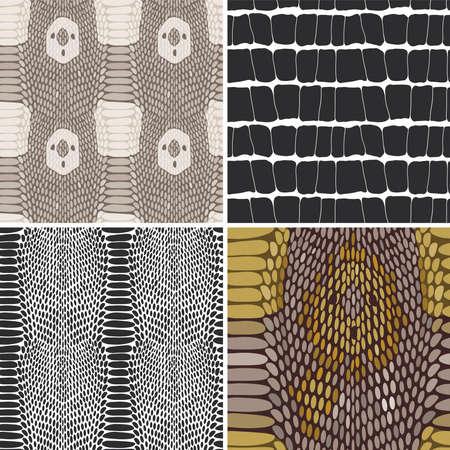 serpiente caricatura: Textura de la piel de serpiente. Vectores