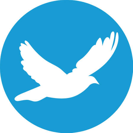 Dove for peace concept and wedding design.  Vector