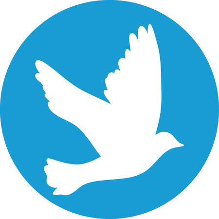 Flying dove for peace concept and wedding design.  Vector