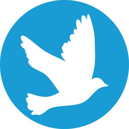 paloma blanca: Vuelo se precipit� por concepto de la paz y dise�o de la boda.