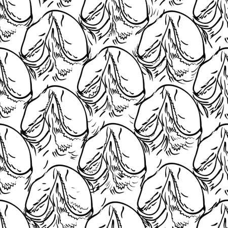 Pineapple peel seamless background.  Vector