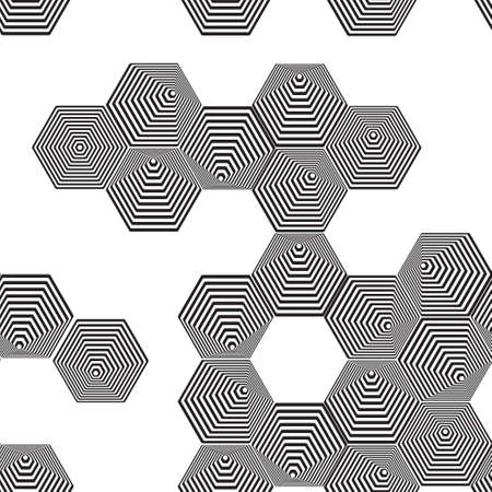 tunnel vision: Volumetric 3D pyramid seamless pattern.