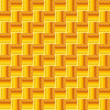 Orange abstract seamless pattern with squares. background Vector