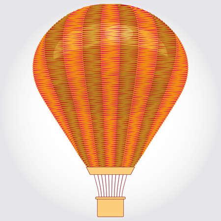 Orange Hot air balloon on a white background. illustration. Vector
