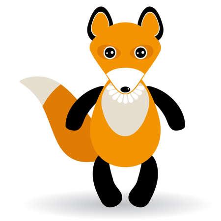 fas: cute cartoon fox on white background