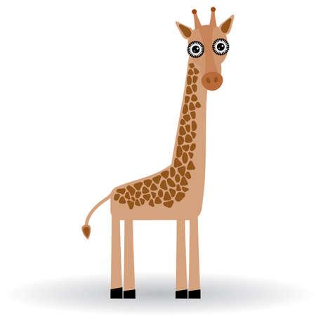 Funny Giraffe on white background Vector