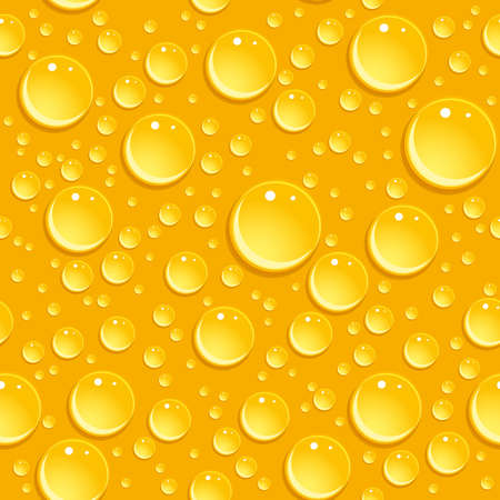 Seamless beer foam background with drops. vector illustration Vector