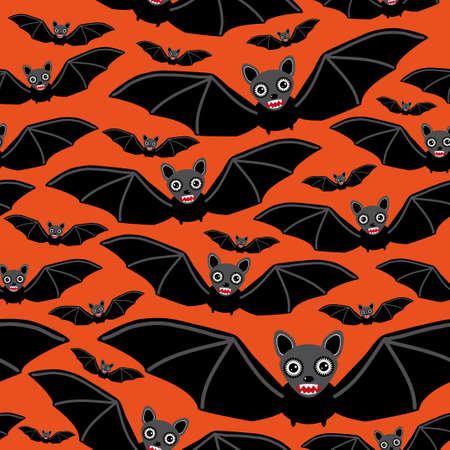 vampire bats: Vampire bats on orange background. vector illustration