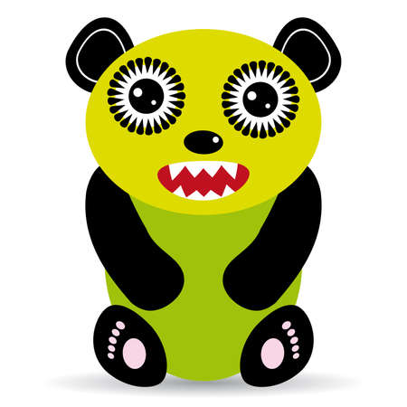 Cute cartoon Monster on a white background. vector Vector