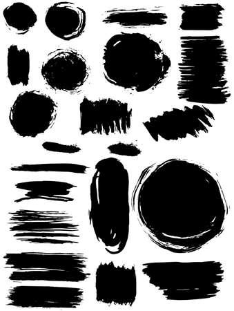 Blots Splash banners set. Grunge texture. vector