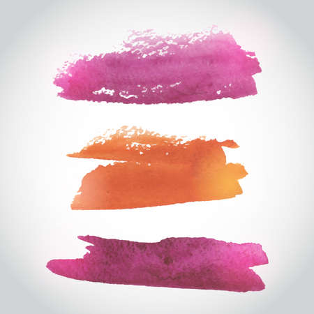 ombre: Painted Pink and Orange Watercolor Background. Watercolor Wash. Ombre Watercolor Background