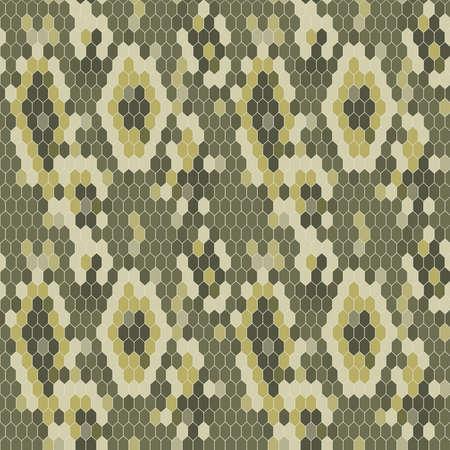 exoticism: Snake skin texture. Seamless pattern python. Vector illustration Illustration