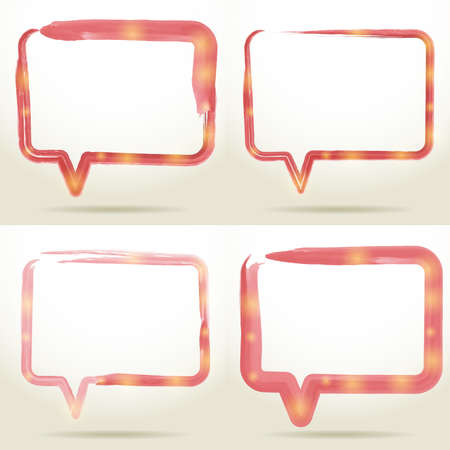 dabs: Set Blank empty white speech bubbles watercolor on white background. vector background Illustration