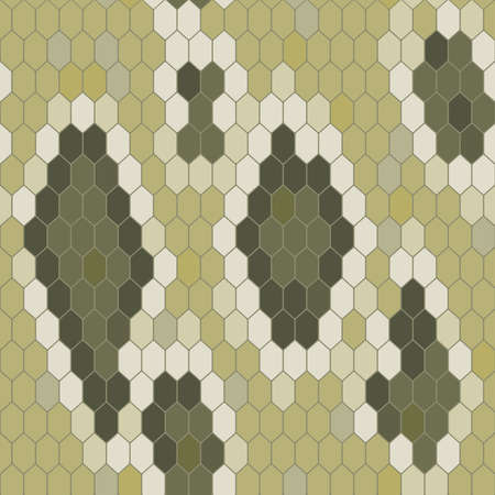 snake leather: Snake skin texture. Seamless pattern python. Vector illustration Illustration