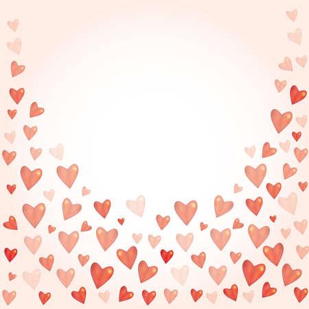 Brillante tridimensional del corazón brillante rojo sobre fondo blanco. El amor, la ceremonia de la boda el matrimonio y el Día de San Valentín celebración concepto. Ilustración vectorial