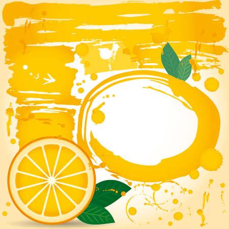 juice fruit drops liquid orange element design Grunge. Spray paint. Vector. Vector