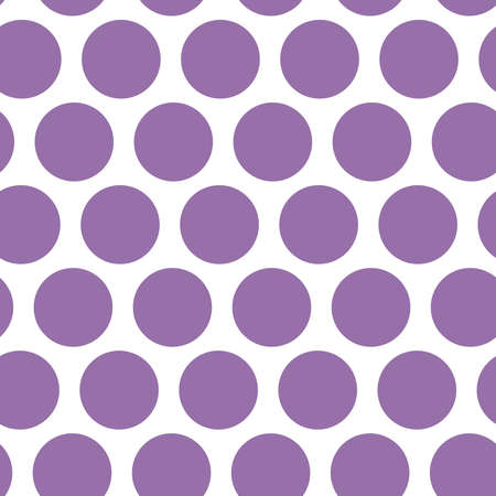 Polka dot background, seamless pattern. Purple dot on white background. Vector illustration