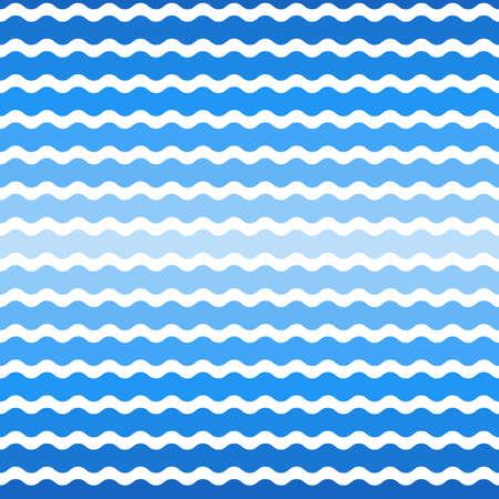 wave blue gradient background, seamless pattern. Vector illustration Illustration