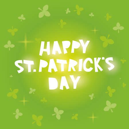 patricks day: Happy St. Patricks Day card design. Vector illustration