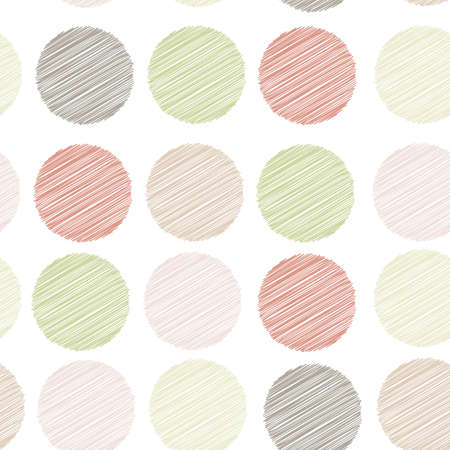 Polka dot background, seamless pattern. embroidery stitches. scribble dot on white background. Vector.
