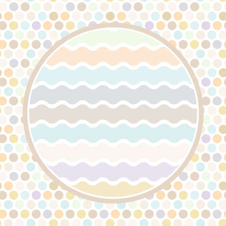 wawe: Design cards circle for your text Polkadot background, pattern. Pastel color dot on white background. Vector