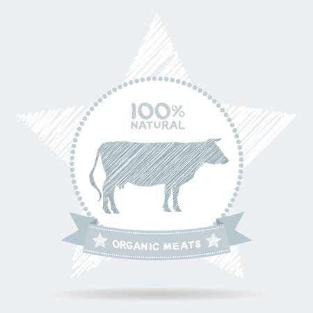 farm shop: Farm shop, cow milk Diagram and Design Elements in Vintage Style. Vector illustration Illustration