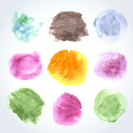 Abstract watercolor art hand paint isolated on white background. Watercolor stains. Vector illustration Vector