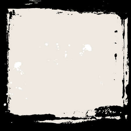 Abstract grunge frame. Black and beige Background template. Vector illustration Ilustração