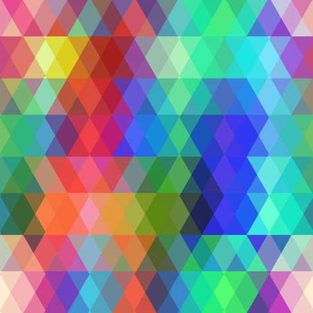 Abstract hipsters seamless pattern with colored rhombus.