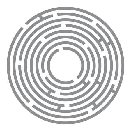 leading the way: Abstract futuristic maze, gray circles on white background. Vector illustration