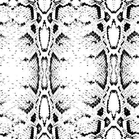 snakeskin: Seamless pattern black on white background. Snake skin texture. Vector illustration