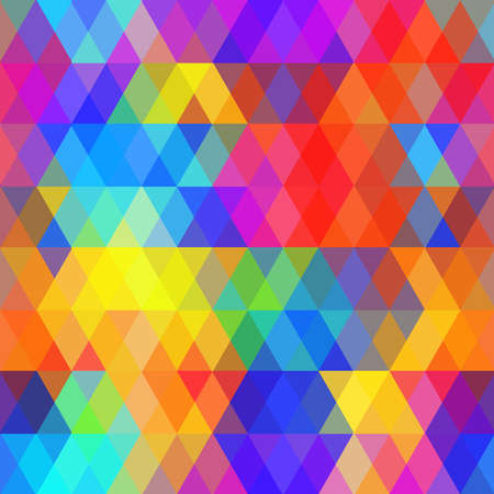 Abstract hipsters seamless pattern with bright colored rhombus. Geometric background rainbow color. Vector illustration