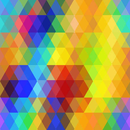 shape vector: Abstract hipsters seamless pattern with bright rainbow color rhombus. Geometric background. Vector illustration Illustration