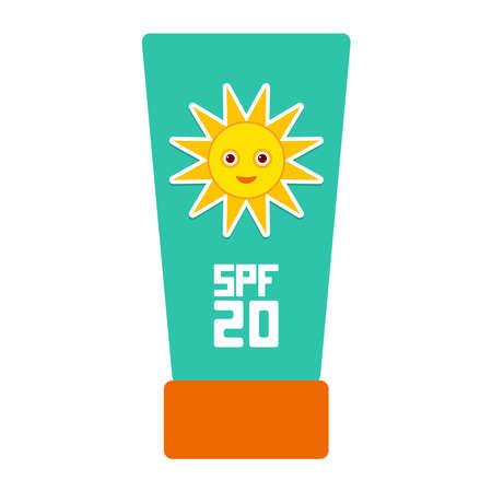 sun lotion: