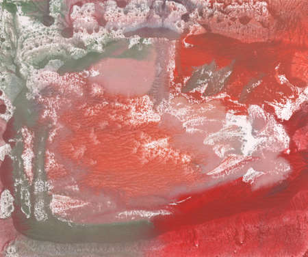monotype: illustration abstract landscape pink watercolor paint in monotype technique, abstract texture background for your design