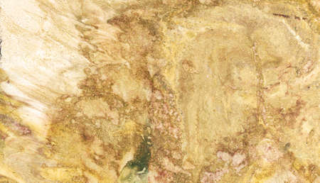 monotype: yellow orange beige paint in monotype technique, abstract texture background for your design ebru illustration