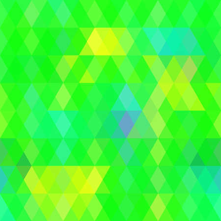 green yellow: Abstract hipsters seamless pattern with bright colored rhombus. Geometric background green yellow color. Vector illustration Illustration
