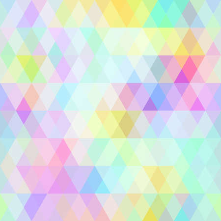 Abstract hipsters seamless pattern with bright colored rhombus. Geometric background rainbow pastel color. Vector illustration