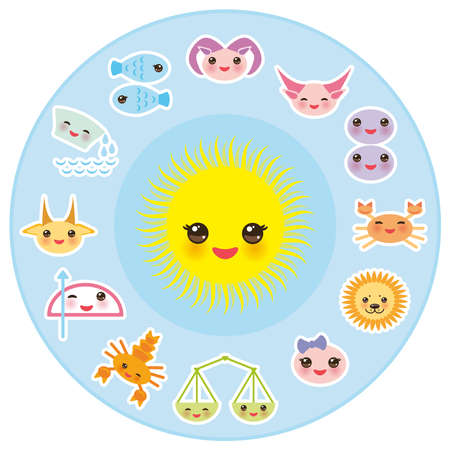 Funny zodiac sign Ilustracja