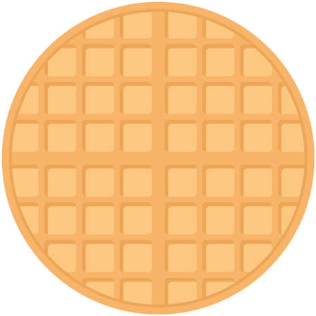 Belgium round waffles, pastel colors on white background. Vector illustration