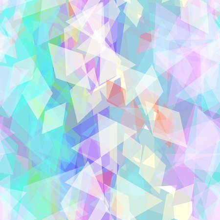 Abstract geometric seamless pattern with rhombus and brilliant decorative contemporary elements. purple lilac blue aqua geometric print, ethnic hipster trendy backdrop. Vector illustration  イラスト・ベクター素材