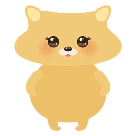 Cute hamster, pastel colors on white background. Vector illustration Illustration