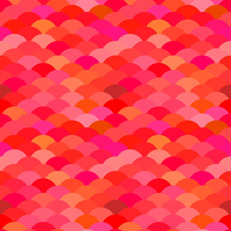 Seamless pattern scales, wave abstract simple Nature background with japanese red claret pink circle pattern. Can be used for fabrics, wallpapers, websites. Vector illustration