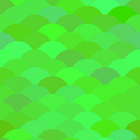 Seamless pattern scales, wave abstract simple Nature background with japanese green summer circle pattern. Can be used for fabrics, wallpapers, websites. Vector illustration Illustration