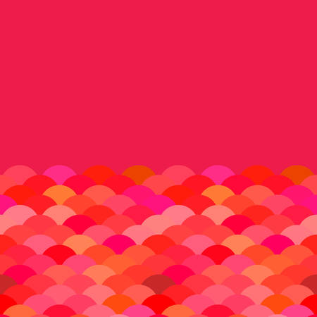scales, wave card banner design for text abstract simple Nature background with japanese red claret pink circle pattern. Vector illustration