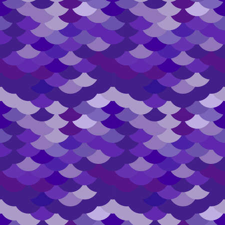 seamless pattern abstract scales simple background with japanese circle pattern ultraviolet purple violet. Can be used for fabrics, wallpapers, websites. Vector illustration